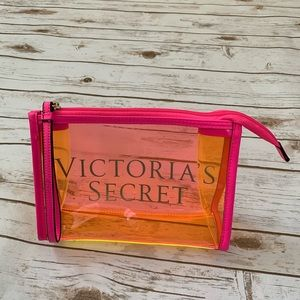 Victoria Secret Clear Neon MakeUp Bag